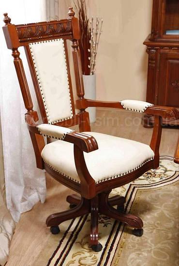 Вращат стул с подлокот. /кожа/ Venetia Lux
