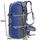 Рюкзак спортивный водонепроницаемый Jungle King 45L синий, фото 2