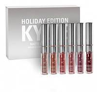 Набор помады Kylie Birthday Edition (6 цветов) Серебро