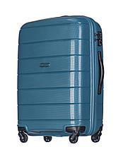 Дорожный чемодан из полипропилена на 4-х колесах (средний) Puccini Madagaskar бледно-зеленого цвета, фото 2