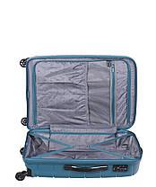Дорожный чемодан из полипропилена на 4-х колесах (средний) Puccini Madagaskar бледно-зеленого цвета, фото 3