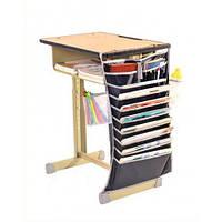 Настольный подвесной органайзер для учебных книг и тетрадей (черный)