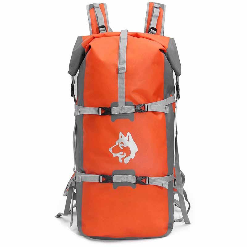 Рюкзак спортивный водонепроницаемый Jungle King 45L оранжевый