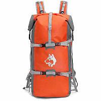 Рюкзак спортивный водонепроницаемый Jungle King 45L оранжевый, фото 1