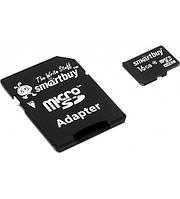 Карта памяти 16GB Smartbuy micro SDHC class 10 с адаптером SD!