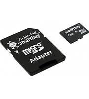 Карта памяти 8GB Smartbuy micro SDHC class 10 с адаптером SD!