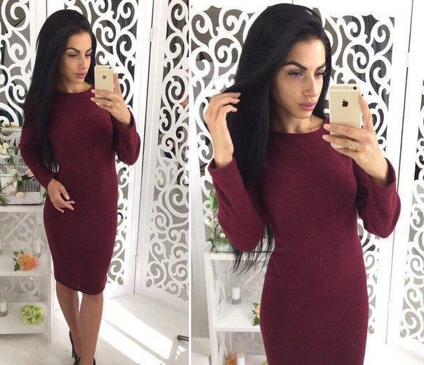 Женское платье из ангоры Rondo / размер 42,44,46,48 цвет бордо