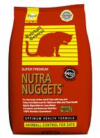 NUTRA NUGGETS Hairball Control 10кг корм для котов, выведение шерсти (красный)