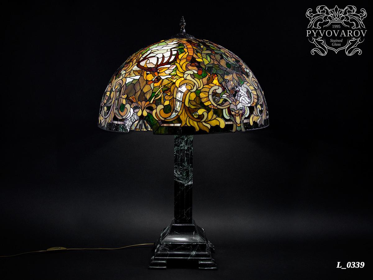 Лампа Тиффани Охотника