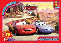 Детские пазлы GToys на 70 элеменов Тачки