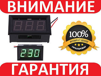 Вольтметр цифровой AC 60-500В Зеленый с защелкам