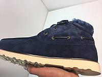 UGG David Beckham Lace Navy. Стильные мужские ботинки. Интернет магазин качественной обуви., фото 1