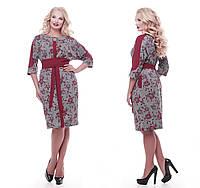 Красивое платье   Кэтлин бордо розы 52