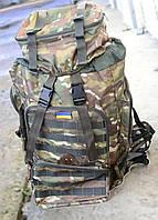 Рюкзак камуфляжный Хаки Т-75 шеврон на липучке