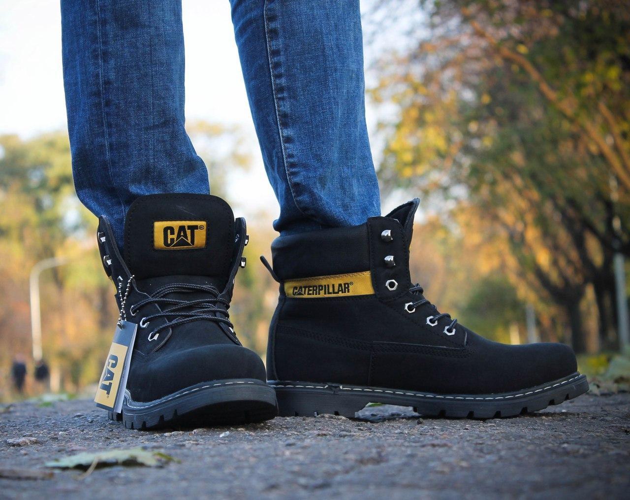 Мужские зимние ботинки Caterpillar Black