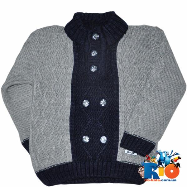 вязаный свитер на пуговицах зимний для мальчика 1 2 3 года 3 ед