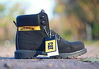 Зимние ботинки CATERPILLAR нубук (80% кожа , 20% полимерный материал),не промокают,прошиты,мех ,размеры:40-44