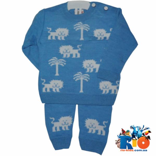 зимний вязаный костюм для мальчиков 1 2 года 2 ед в уп цена 123