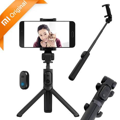 Монопод трипод Штатив Xiaomi Mi Selfie Stick Tripod XMZPG01YM Black + кабель зарядки, фото 2