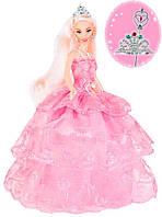 Кукла Ася в розовом платье и подарки для девочки (тиара и волшебная палочка), Ася