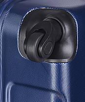 Дорожный чемодан из ABS на 4-х колесах (средний) Puccini Ibiza синего цвета, фото 3