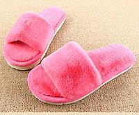 Тапочки комнатные женские меховые розовые