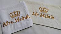 Полотенце с вышивкой Корона  (40*70 для рук и лица), фото 1
