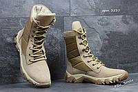 Ботинки-берцы мужские бежевые (зимние)