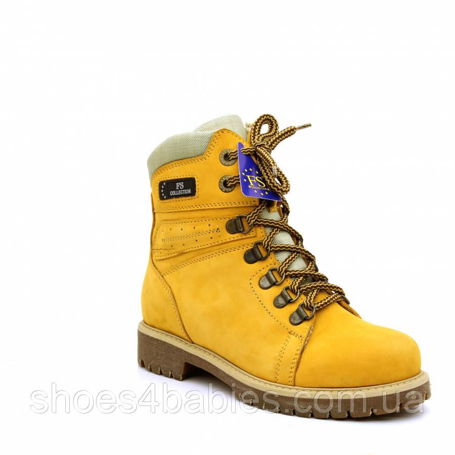 Кожаные зимние ботинки р.32-39