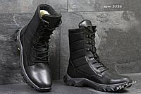 Ботинки-берцы мужские черные (зимние)