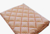 Зимнее теплое одеяло 200*220. Холлофайбер. Персик.