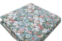 Зимнее теплое одеяло 200*220. Холлофайбер. Цветочный принт.