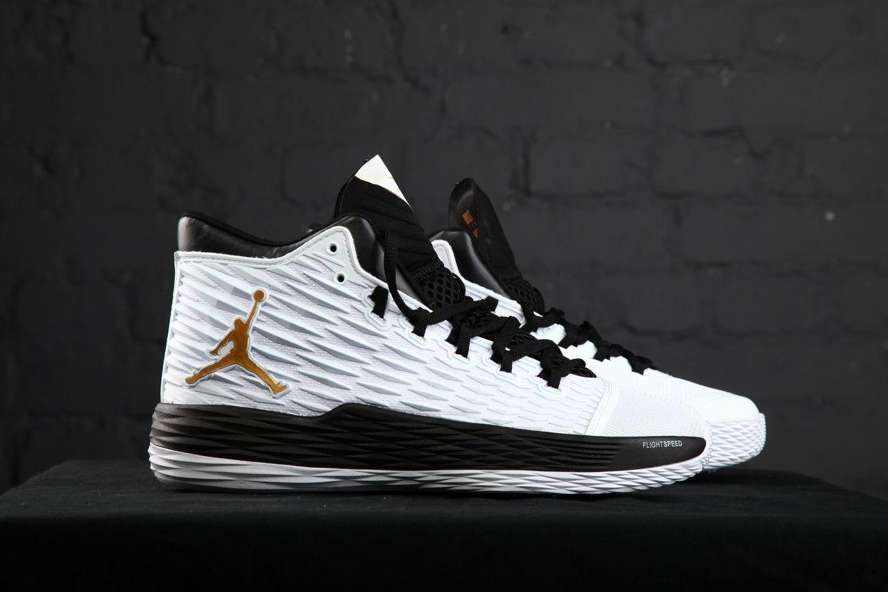 Мужские кроссовки Nike Air Jordan Melo M13 White . Живое фото. Топ качество (Реплика ААА+)