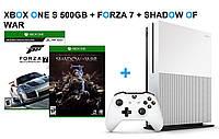 Xbox One S 500GB + Forza7 + Shadow of War