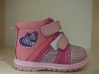 Ботинки на девочку детские розовые