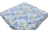 Зимнее теплое двойное одеяло. 175*210.Холлофайбер. Цветочный принт.