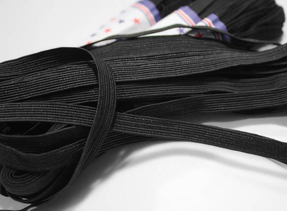 Резинка бельевая черная 1см, 4м , фото 2