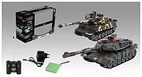 Танковый бой - Танки Leopard 2A5 и Tiger I, на радиоуправлении