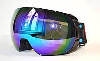 Горнолыжная, лыжная, сноуборд маска (очки) 188 черные/2