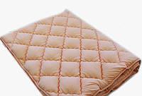 Зимнее теплое полуторное одеяло 155*210. Холлофайбер. Персик.