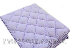 Зимнее теплое полуторное одеяло 155*210. Холлофайбер. Сирень.