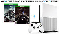 Xbox One S 500GB + Destiny 2+Shadow of War