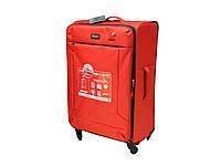 Легкий тканевый чемодан большого размера на 4-х кол. Airtex 7744