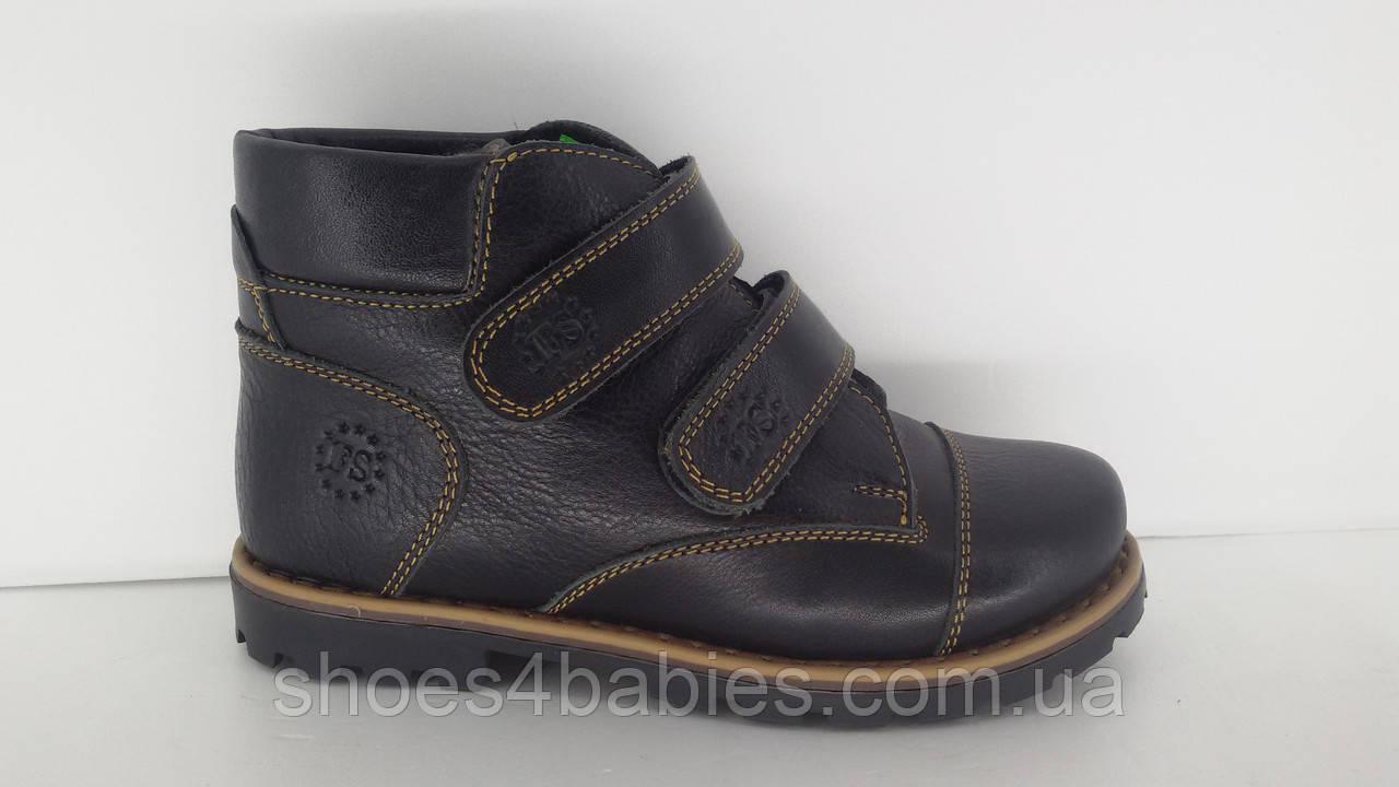 Зимние ботинки из натуральной кожи р.30 - 19см