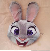 Детский кошелек серый зайчик, 3D принт, плюш-велюр