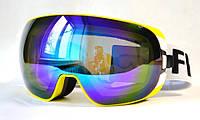 Горнолыжная, лыжная, сноуборд маска (очки) HB-188 желтые