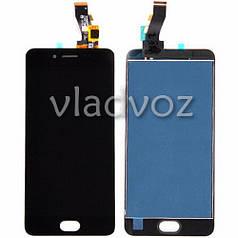 Дисплей модуль экран с сенсором для замены на Meizu M3s mini LCD черный