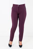 Зауженные женские брюки Миранда бордового цвета, фото 1