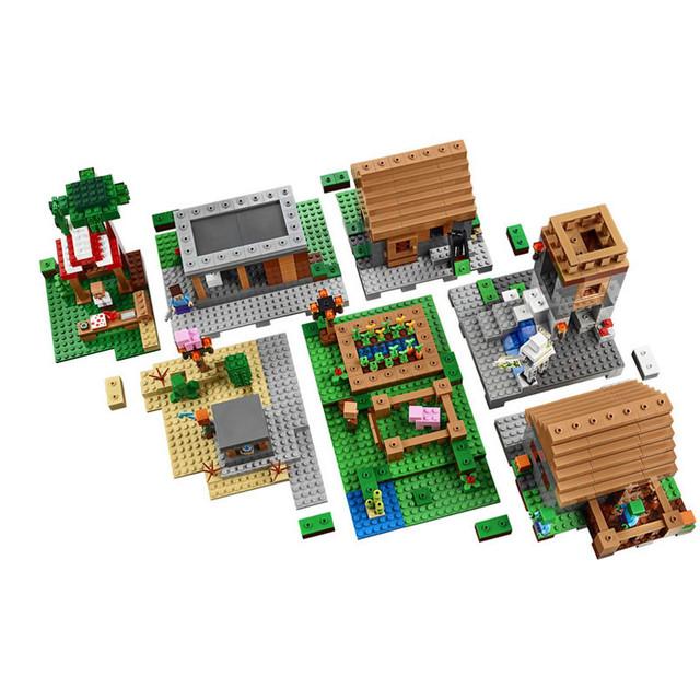 Конструктор Bela 10531 Minecraft Деревня   1622 деталей