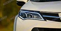 Тюнинг фары Toyota Rav4 '2013-2015 с линзами, черные